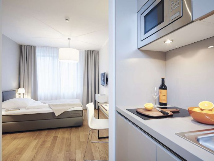 Möbliertes XS Apartment Frankfurt Europaviertel