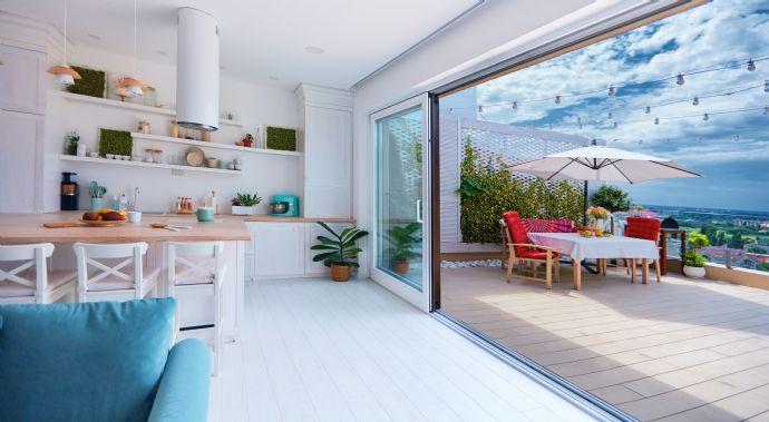 leonlife Penthouse mit HomeOffice Balkon
