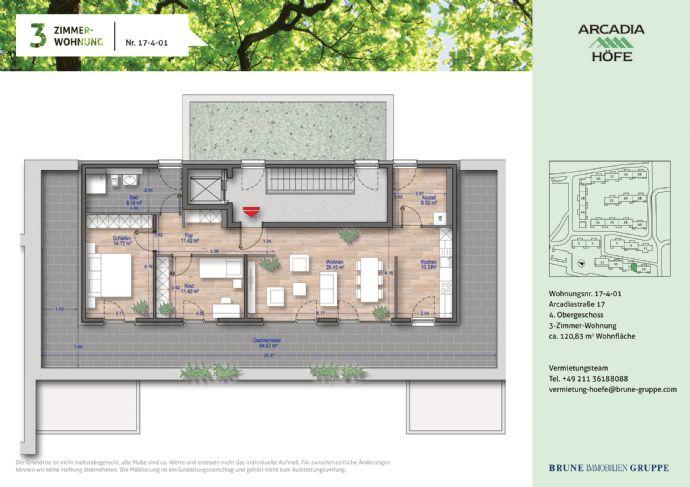 Erstbezug Penthouse Wohnung im Neubau! 3 Zimmer mit Panorama Dachterrasse in den Arcadia Höfen!