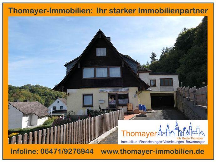 1-2 Familienwohnhaus mit Aussicht - direkt in Weinbach!!!