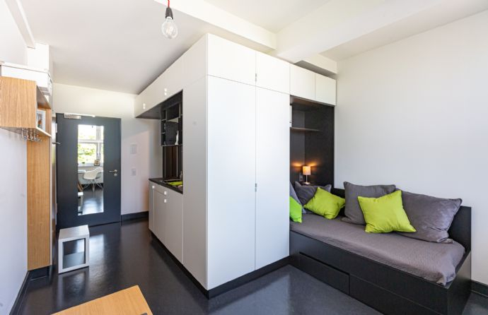 Möbliertes Apartment in modernem Studentenwohnheim I 24 m² - 28 m² I ab 655 I Typ Colonnaden | bezugsfrei ab 01.09.2020