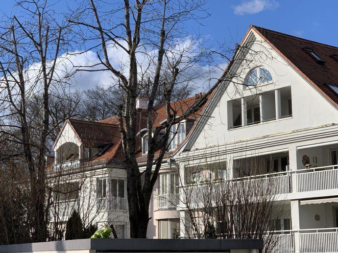 Wohnen am Isarhochufer!  3- Zimmer Wohlfühl-Wohnung mit schönem Garten in absolut ruhiger Wohnanlage
