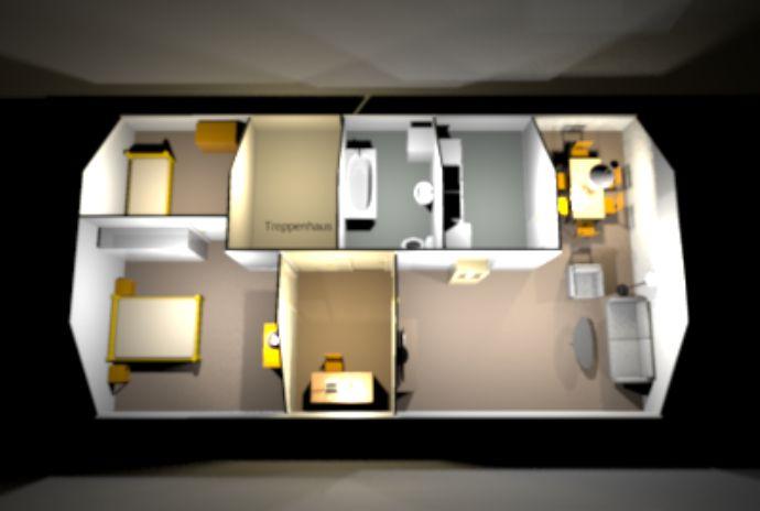 tolle 3-Raum-Dachgeschoss mit EBK und Cabrio-/Balkonfenstern von Velux