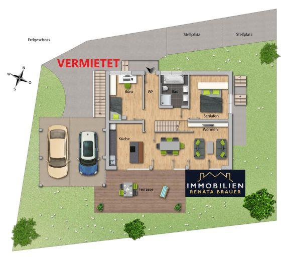 VERMIETET Seenahe 6 Zimmer-Wohnung in einem Neubau-Architektenhaus ab April/Mai 2020