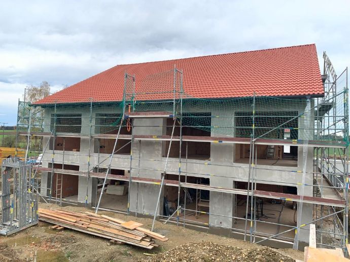1 Doppelhaushälfte in Vilsheim/Gundihausen, Neubau direkt vom Bauherren - Dachausbau mit zusätzlich 58 qm Wohnfläche möglich