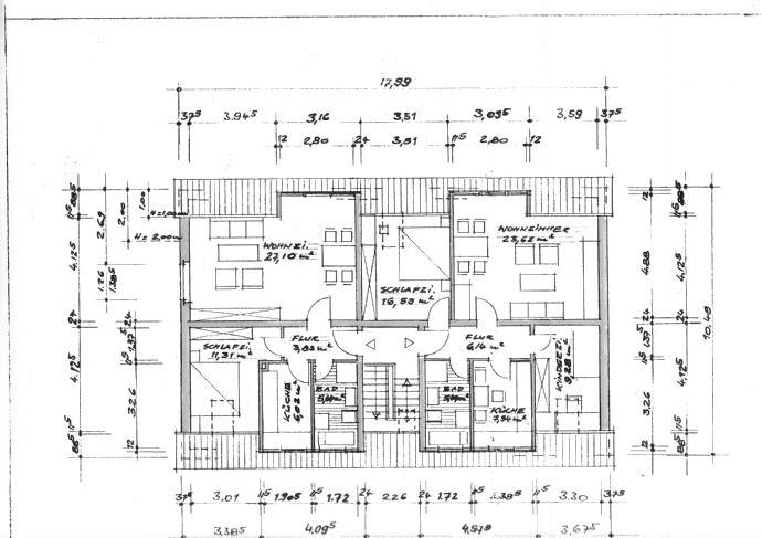 Dachgeschoßwohnung über 2 Etagen